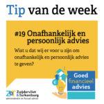 Tip van de week #19